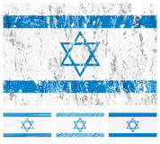 De vlagreeks van Israël grunge Stock Afbeeldingen
