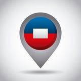 de vlagspeld van Haïti vector illustratie