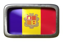De vlagteken van Andorra royalty-vrije illustratie