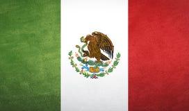 De vlagtextuur van Mexico Stock Afbeelding