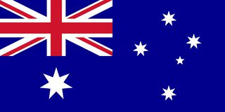 De de vlagvector van Australië isoleert voor druk of Web stock illustratie
