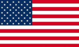 de vlagvector van de Verenigde Staten van Amerika Illustratie van Amerikaanse nationaal royalty-vrije illustratie