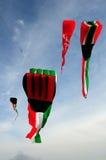 De vlagvliegers van Koeweit Stock Fotografie