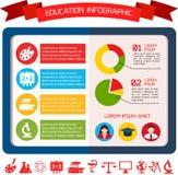 De vlakke Achtergrond Bedrijfs van Infographic Royalty-vrije Stock Fotografie