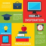 De vlakke Achtergrond Bedrijfs van Infographic Royalty-vrije Stock Afbeeldingen