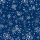 De Vlakke Achtergrond van de de wintersneeuwvlok stock illustratie