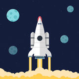 De vlakke achtergrond van de raketkopbal Royalty-vrije Stock Afbeeldingen