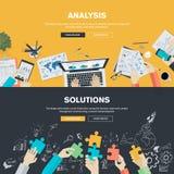 De vlakke concepten van de ontwerpillustratie voor zaken Stock Fotografie