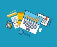 De vlakke concepten van de ontwerpillustratie voor zaken Stock Afbeelding
