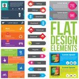 De vlakke elementen van het Webontwerp Stock Foto's