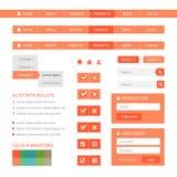 De vlakke elementen van het Webontwerp Stock Afbeeldingen