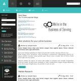 De vlakke elementen van het Webontwerp, knopen, pictogrammen Het malplaatje van de website Stock Foto's