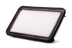 De vlakke filter van de motorlucht in een plastic geval royalty-vrije stock afbeelding