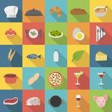 De vlakke geplaatste pictogrammen van de chef-kok royalty-vrije stock fotografie