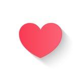 De vlakke hartdocument stijl, de dagpaar van de liefdevalentijnskaart nodigt, vect uit Stock Foto