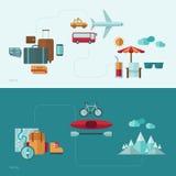 De vlakke illustratie van het ontwerp vectorconcept Stock Fotografie