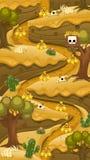 De Vlakke Kaart van het Woestijn Verticale Spel stock illustratie