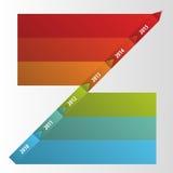 De vlakke kleurrijke abstracte vector van chronologieinfographics Stock Foto