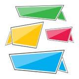 De vlakke lineaire banner van het bevorderingslint, de Vectorillustratie van de prijskaartjesticker Stock Illustratie