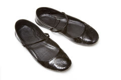 De vlakke misstap van dames op schoenen Stock Foto