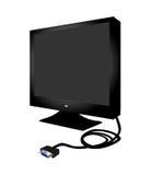 De Vlakke Monitor van PC Royalty-vrije Stock Afbeeldingen
