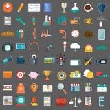 De vlakke pictogrammen ontwerpen moderne vectorillustratie grote reeks van diverse financiële artikel van het type service, Web e stock illustratie