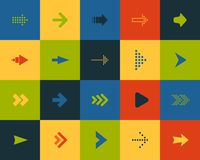 De vlakke pictogrammen plaatsen 28 Vector Illustratie