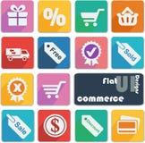 De vlakke pictogrammen van het uiontwerp - Handel Royalty-vrije Stock Afbeeldingen
