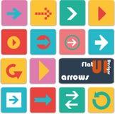 De vlakke pictogrammen van het uiontwerp pijlen Royalty-vrije Stock Fotografie