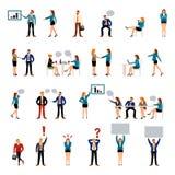 De vlakke stijl bedrijfsmensen stellen pictogrammen voor Royalty-vrije Stock Foto