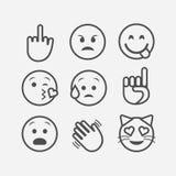 De vlakke stijl emoticon plaatste vector illustratie