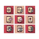 De vlakke Telefoon van het Pictogramontwerp Royalty-vrije Stock Afbeeldingen