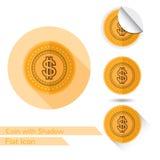 De vlakke vectorillustratie van het ontwerp gouden pictogram op wit Royalty-vrije Stock Afbeeldingen