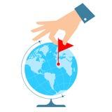 De Vlakke vectorillustratie van het zakenreisconcept Stock Fotografie