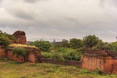 De vlakte van Bagan Pagan, Mandalay, Myanmar royalty-vrije stock fotografie