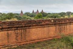 De vlakte van Bagan Pagan, Mandalay, Myanmar stock afbeeldingen
