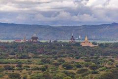 De vlakte van Bagan Pagan, Mandalay, Myanmar stock fotografie