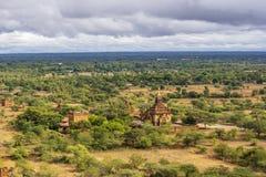 De vlakte van Bagan Pagan, Mandalay, Myanmar royalty-vrije stock afbeeldingen