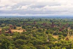 De vlakte van Bagan Pagan, Mandalay, Myanmar royalty-vrije stock afbeelding