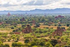 De vlakte van Bagan Pagan, Mandalay, Myanmar royalty-vrije stock foto