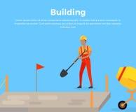 De Vlakte van het het Webontwerp van de de bouwbanner stock illustratie