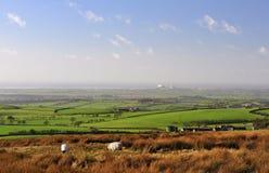 De vlakte van Lancashire aan baai Morecambe. Stock Afbeelding