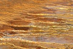 De vlakten van de travertijn Stock Afbeeldingen