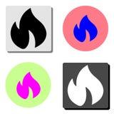 De vlam van de brand Vlak vectorpictogram royalty-vrije illustratie