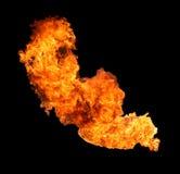 De vlam van de brand Stock Foto's