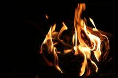 De vlam van de brand Stock Foto