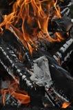 De vlam van de brand Stock Afbeelding