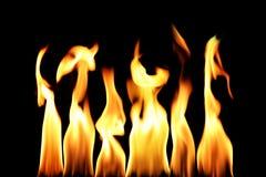 De vlam van de brand stock afbeeldingen