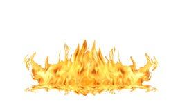 De Vlam van de brand op Wit Stock Foto