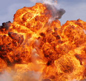 De vlam van de explosie stock fotografie